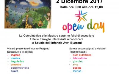 Open Day – 2 Dicembre 2017 – ore 9/12