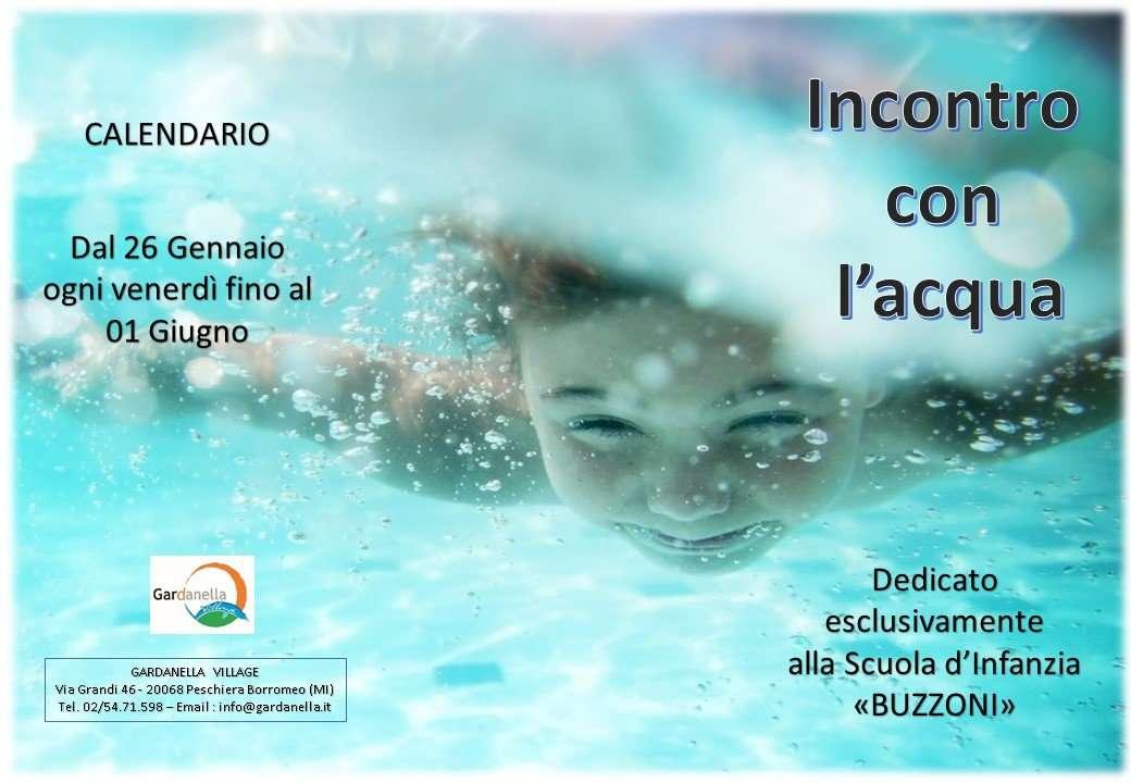 Incontro con l'acqua dal 26 Gennaio ogni venerdì fino al 01 Giugno - Scuola Materna Peschiera Borromeo