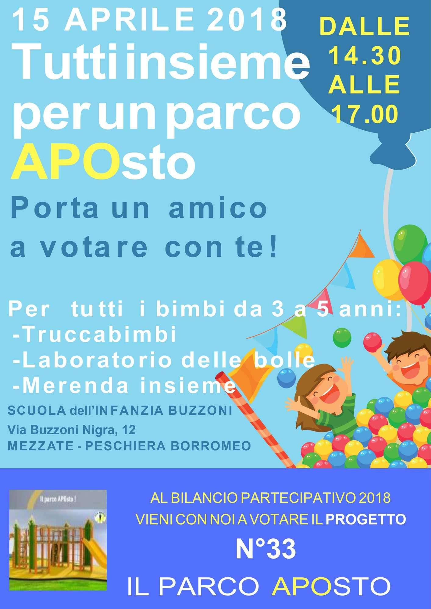 Tutti insieme per un parco APOsto - Scuola Materna Peschiera Borromeo