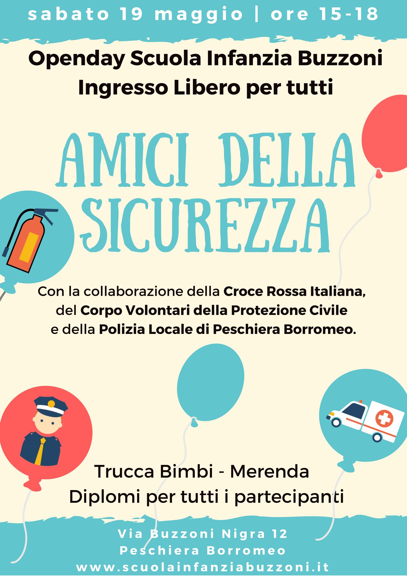 Openday - sabato 19 maggio ore 15-18 - Scuola Materna Peschiera Borromeo