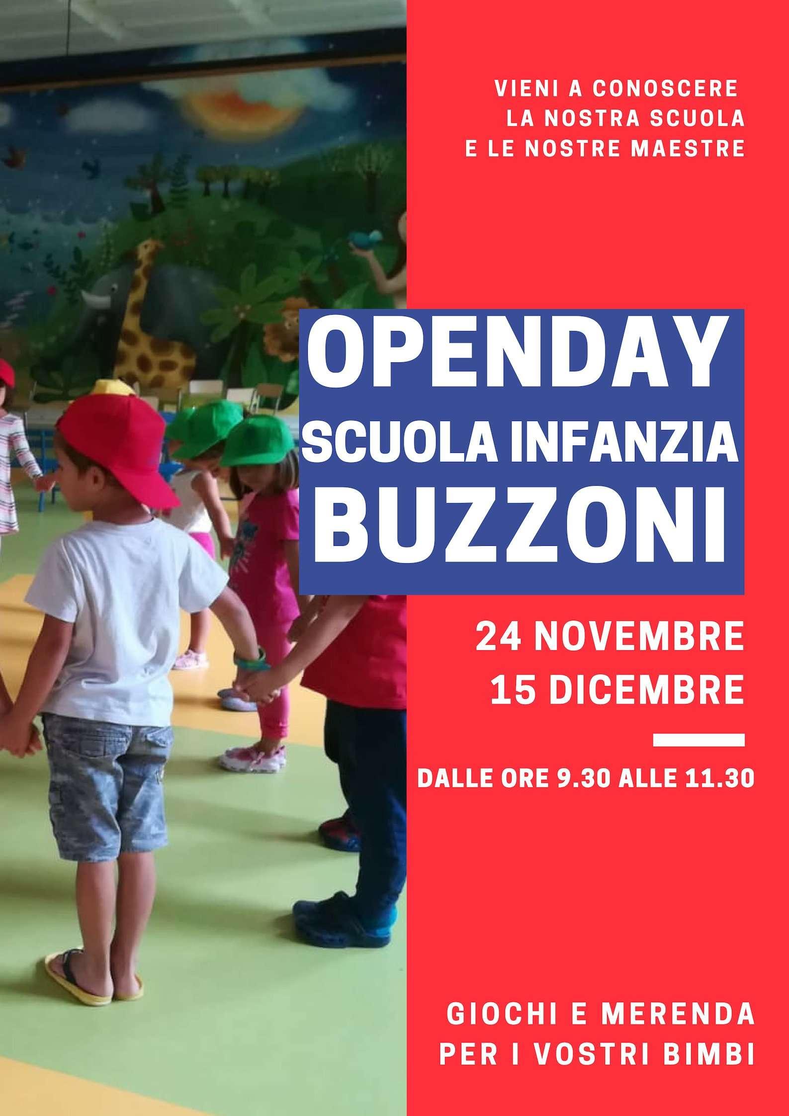 Open Day Scuola Infanzia Buzzoni 2018 - 2019 - Scuola Materna Peschiera Borromeo