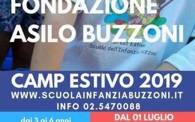 CAMP estivo 2019 – Scuola Materna Fondazione Buzzoni.