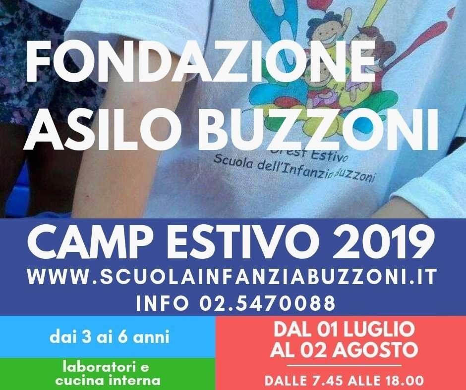 CAMP estivo 2019 - Scuola Materna Fondazione Buzzoni. - Scuola Materna Peschiera Borromeo