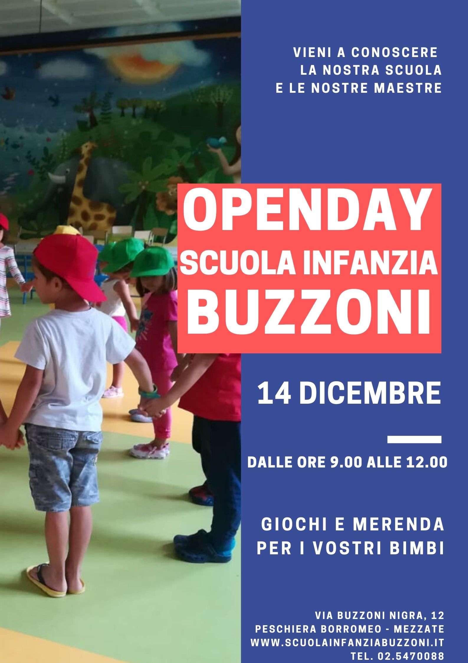 14 Dicembre Open Day Scuola Infanzia Buzzoni - Scuola Materna Peschiera Borromeo